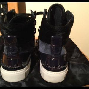 ded2f5fe741 Yves Saint Laurent. YSL Navy and black hi top sneakers Sz 41,5. $260 $1,100